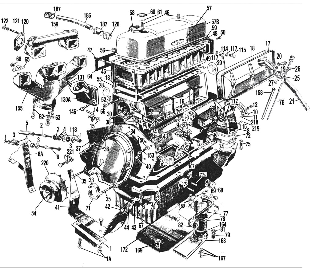 MG T-series External Engine Parts Diagram