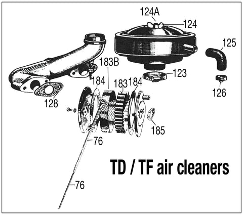 MG TD-TF air cleaners