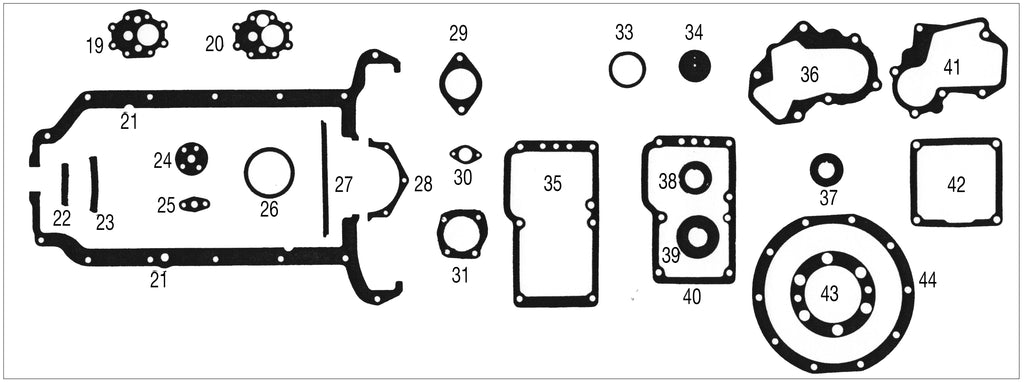 MG T-SERIES GASKETS