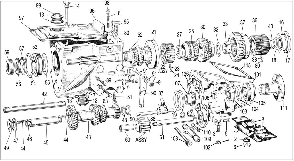 mgt gear box td tf diagram