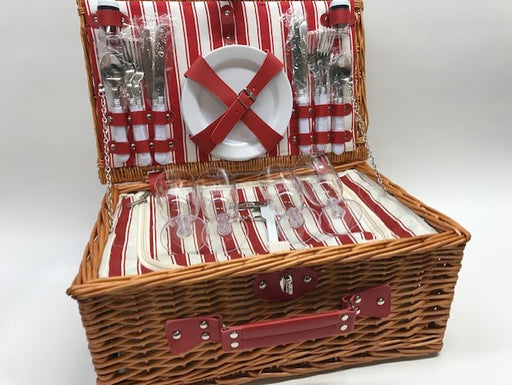 Picnic Basket for Four, with Accessories