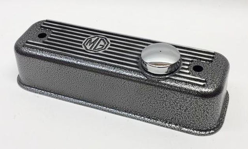 MGB Cast Aluminum Valve Cover, Crackle Finish with vented cap