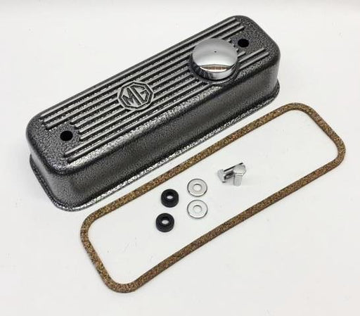MGB Cast Aluminum Valve Cover, Crackle Finish Kit
