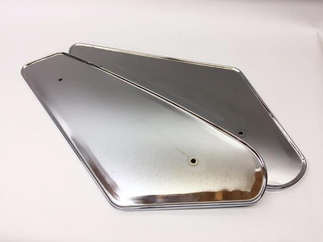 End Panel Set, gas tank (2 chrome panels), TF