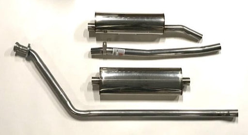 Stainless Steel Exhaust System, MGB 75-80 w/o catalytic converter