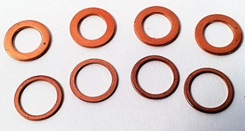 Copper Washers, Set of 8