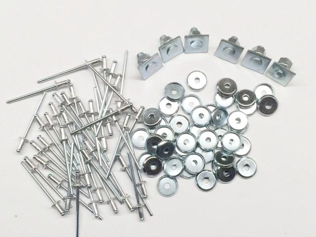 CLIP & RIVET SET (50 each), for MGB Body Moulding