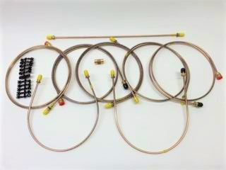 MGB Brake Pipe Set, 68-74.5 non-servo