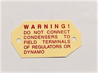 Warning Label for Regulator