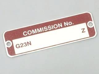 COMMISSION NUMBER PLATE, MGB
