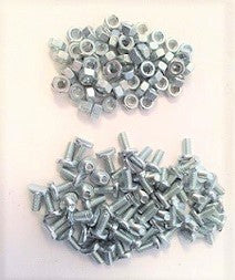 T-Bolt & Nut Set, Side Curtain (58 bolts & 58 nuts)