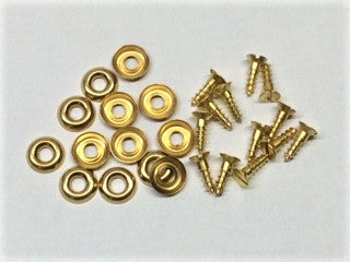 Brass Screw Set, Top to Tacking Strip (13 screws & washers), TC TD TF