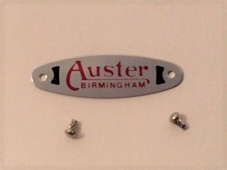 Auster Windshield Plate with Rivets