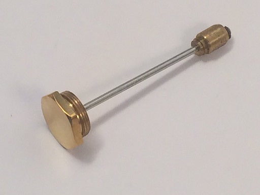 Brass Oil Cap Assembly, Hex, with Vent Hole