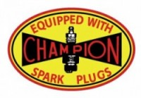 Early Champion Spark Plug Decal