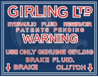 Girling Fluid Warning - Late