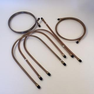Complete Brake Pipe Set, Coil Covered Tubing, Copper-Nickel MG TC