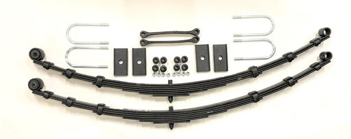MGB Complete Leaf Spring Kit, Tube Axle, Rubber Bushings