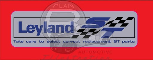 Genuine Leyland ST Parts Decal