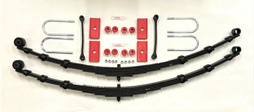 MGB Complete Leaf Spring Kit, Rubber Bumper Cars, Polyurethane Bushings