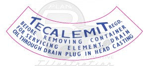 Tecalemit Oil Filter Decal