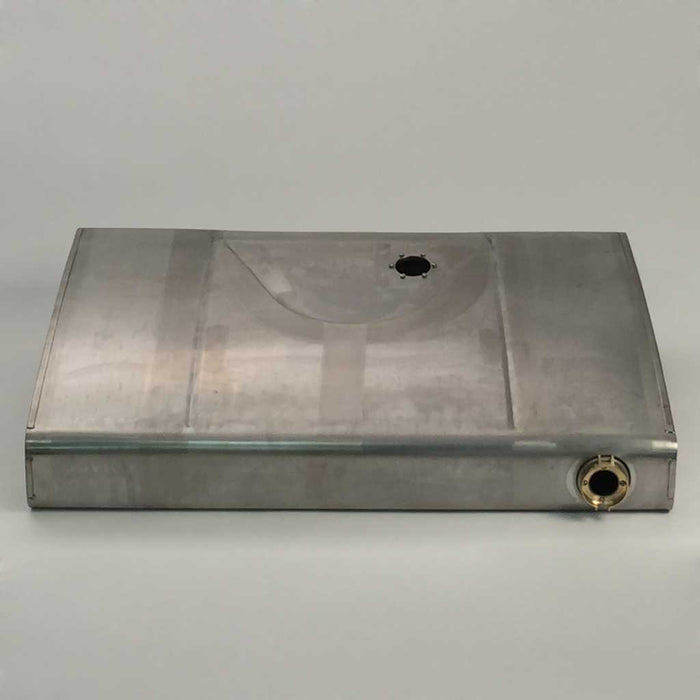 mg tc rear exhaust cleat stainless