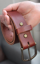 Load image into Gallery viewer, Rustic Belt - Medium Brown