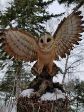 Load image into Gallery viewer, flapping barn owl statue for sale