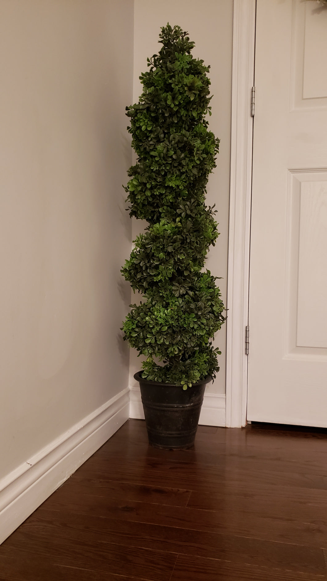 4 foot boxwood spiral artificial topiary tree for sale