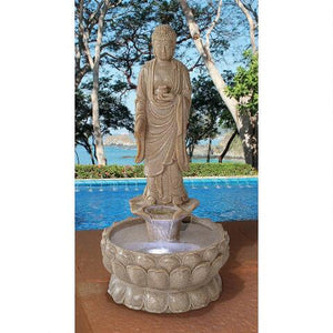 large garden fountain Buddha