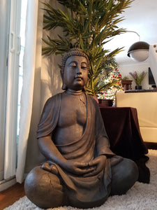 buddha in the garden sculpture