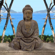 Load image into Gallery viewer, medium buddha in the garden sculpture for sale