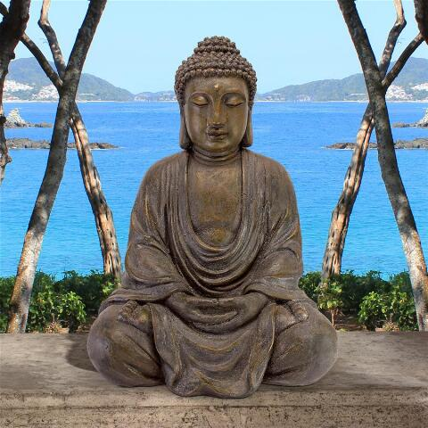medium buddha in the garden sculpture for sale