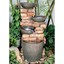 Load image into Gallery viewer, Brick look cascading fountain for sale