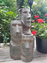 Load image into Gallery viewer, Easter island head cascading fountain for sale