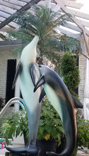 Load image into Gallery viewer, dolphin statue pair tropical pose