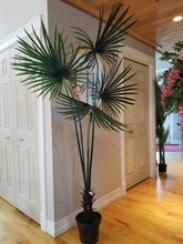 Load image into Gallery viewer, 7 foot fan palm artificial tree for sale