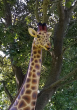 Load image into Gallery viewer, giraffe statue in facial pose