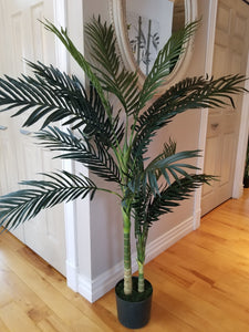 5 foot golden cane palm artificial tree for sale