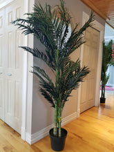 Load image into Gallery viewer, 6 foot golden cane palm artificial tree for sale