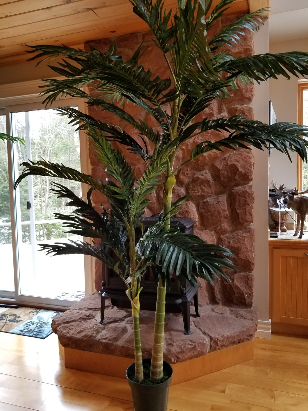 8 foot golden cane palm artificial tree for sale