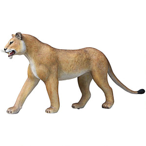 life size lioness statue in left pose