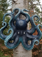 Load image into Gallery viewer, blue octopus wall sculpture for sale