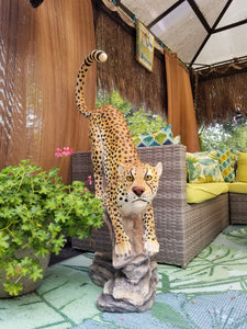 pouncing cheetah statue for sale