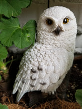 Load image into Gallery viewer, snowy owl on a branch statue for sale