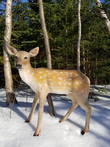 spotted fawn deer statue for sale