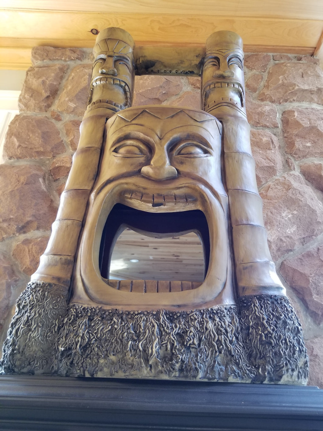tiki gods of fire and water fountain for sale
