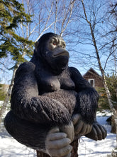 Load image into Gallery viewer, black tropical gorilla statue for sale