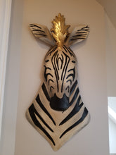 Load image into Gallery viewer, zebra metal wall sculpture for sale