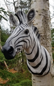 zebra resin wall sculpture for sale